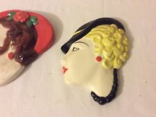 More details for item 33. staffordshire art deco style faces