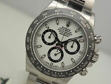 Rolex Daytona 116500 Stainless Steel Ceramic Bezel White Panda Dial 40mm Watch