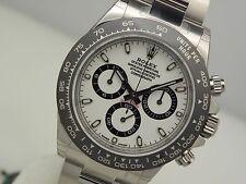 Rolex Cosmograph DAYTONA 116500 Mens Steel CERAMIC Bezel White Panda Dial 40MM