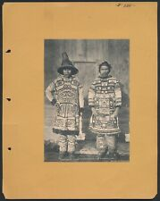 1895 CHILKAT CHIEFS DANCING COSTUMES Native American Vintage Print WINTER & POND