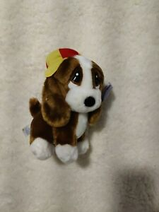 Applause Sad Sam Strutting Plush Bassett Hound Puppy Dog with hat with tags