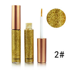 Waterproof Make Up Silver Gold Glitter Metallic Eyeshadow Eyes Liquid Eyeliner