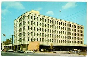 Portsmouth Virginia Postcard Street View Federal Building Delivery Truck #76000