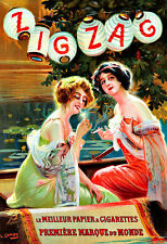 Zig Zag roll up for Cigarettes paper Cigarette papers  smoking  Poster Print