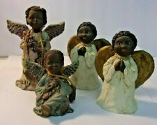 Sarah's Attic & Constance Collection African American Angel Figurines - lot of 4