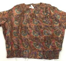 St1324 Laura & Jayne Collection Two Women's Multicolored Long-Sleeved Blouse 24W