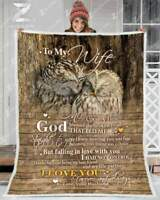 Owl - To My Wife - God Blessed The Broken Road Sofa Fleece Blanket 50-80
