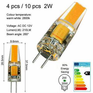 10/4/1x G4 COB 1.2W 2W LED Bulb AC DC 12V Light Warm White Replace Halogen Lamp