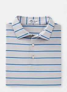 NEW MENS PETER MILLAR S/S STATE STRIPE POLO GOLF SHIRT, MEDIUM, PICK A COLOR