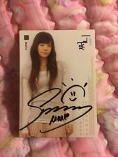 SNSD SUNNY STARCARD SIGNED AUTOGRAPHED Official photocard Card Kpop K-pop Etched