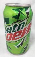 MOUNTAIN DEW Soda Can Full 12 Ounces Unopened Soft Drink