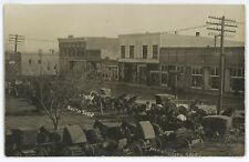 RPPC Horse and buggies South Side BEAVER CITY NE Nebraska Real Photo Postcard