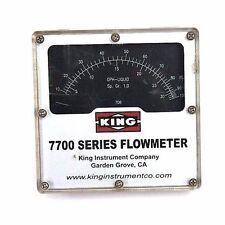 KING MODEL 7700 SERIES FLOWMETER,  7711230706, 1500 PSI MAX PRESS
