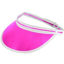 Poker Visor Hat Casino Croupier Adjustable Size Fancy Dress Cap Pink H