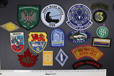 Lot of 17 Patches: Fishing, Military, Scout, NSW Mounted Rifles, Wahring LOT 74