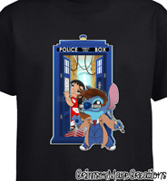 Lilo and Stitch Dr. Who David Tennant Cotton T-Shirt - Kids Ladies Mens Sizes