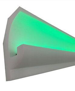 4 Meter LED Zierleiste Weiß Stuckleiste für indirekte Beleuchtung XPS OL-16A