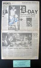 KIRK GIBSON TIGERS WIN SERIES SIGNED AUTOGRAPHED 1984 VINTAGE ORIGINAL NEWSPAPER