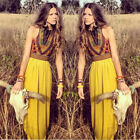 Women Boho Long Maxi Chiffon Dress Evening Party Casual Summer Beach Sundress