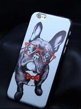 Iphone 6 Carcasa Protector Fundas Bulldog Frances Negro Gafas Movil Accesorios