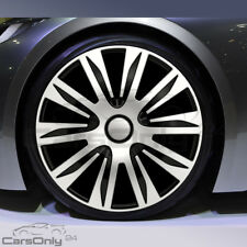 4x RADKAPPEN 13 ZOLL NARDO SILVER BLACK RADZIERBLENDEN AUDI BMW MERCEDES OPEL