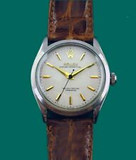 Vintage 1952 Rolex Semi Bubble Back Oyster Perpetual Chronometer Watch Ref.6084