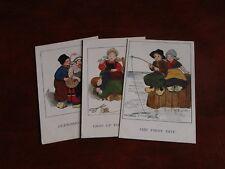 THREE ORIGINAL ETHEL PARKINSON SIGNED CHILDREN POSTCARDS - FAULKNER No. 1580.