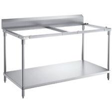 Regency 30 X 60 14 Gauge 304 Stainless Steel Poly Top Table