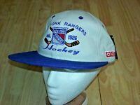 NEW YORK RANGERS NHL Hockey Ball Cap Adjustable Hat Stone NEW snapback