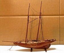 Vintage Ship Model Two Masted Fishing Schooner