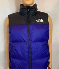 Nwt The North Face Mens Size M 1996 RETRO NUPTSE Vest AZTEC BLUE