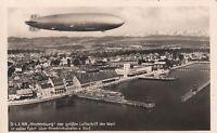 Card Hindenburg 1936 Zeppelin Germany LZ 129 Airship Frankfurt Flight