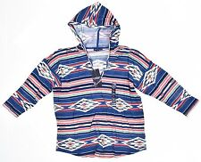 American Living Hooded Navajo-Print Top Blue Ridge Multi Size XL