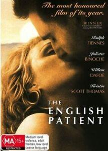 THE ENGLISH PATIENT DVD 1996 Ralph Fiennes Juliette Binoche Romance War Movie