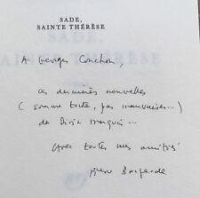 EO 1987 ENVOI dédicace PIERRE BOURGEADE : SADE, SAINTE THÉRÈSE