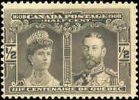 Mint NH Canada F Scott #96 1/2c 1908 Quebec Tercentenary Issue Stamp