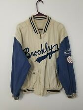 Vintage Pinstripe Brooklyn Dodgers Reversible Jacket Cooperstown Collection L/Xl