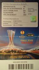 TICKET Namen UEFA EL Finale 2015 Dnipro Dnipropetrovsk - Sevilla FC