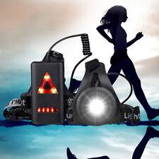 USB LED Outdoor Night Jogging Running Walking Chest Light Torch Warning Lamp