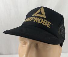 Vtg Amprobe Hat Snapback Trucker Cap Black Multimeter Tool Company Mesh