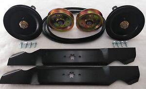 LTX 1040 2010-2014 Deck Rebuild Kit Spindles Blades Pulleys Belt