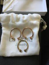 LA SOULA Two Diamond Rings ROSE GOLD & extra Gold (tarnished) Rachel Zoe