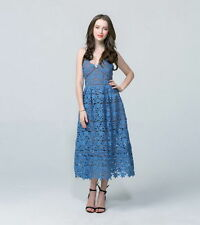 Regular Lace Tea Dresses for Women
