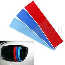 M 3-Color Front Grille Grill Vinyl Strip Sticker Decal For BMW 1 3 5 6 X3 X5 X6