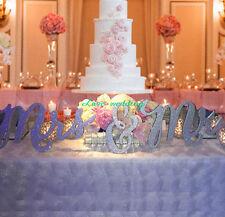 Mr & Mrs glitterSign Set for Wedding Sweetheart Table, home decor Wedding  Signs