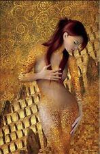 "GUSTAV KLIMT Oil Painting on Canvas Classic art Wall art Decor Kairos 24x48"""