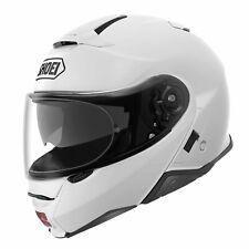 SHOEI NEOTEC 2 HELMET MOTORCYCLE MOTORBIKE GLOSS WHITE M EX DISPLAY LID