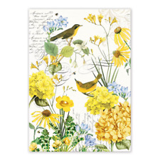 TRANQUILITY Birds, Flowers Cotton Kitchen Towel by  Michel Design Works