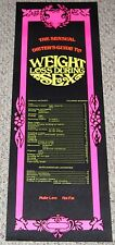 Weight Loss During Sex Blacklight Poster 1970's Hippie Humor Head Shop