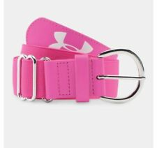 Under Armour 1275281 New Women's Softball Belt Adjustable Up To 42 Pink